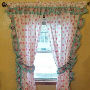 Baby Minnie Mouse Curtain Drapes 82 in x 50 in